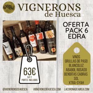 Oferta Pack 6 vinos Edra