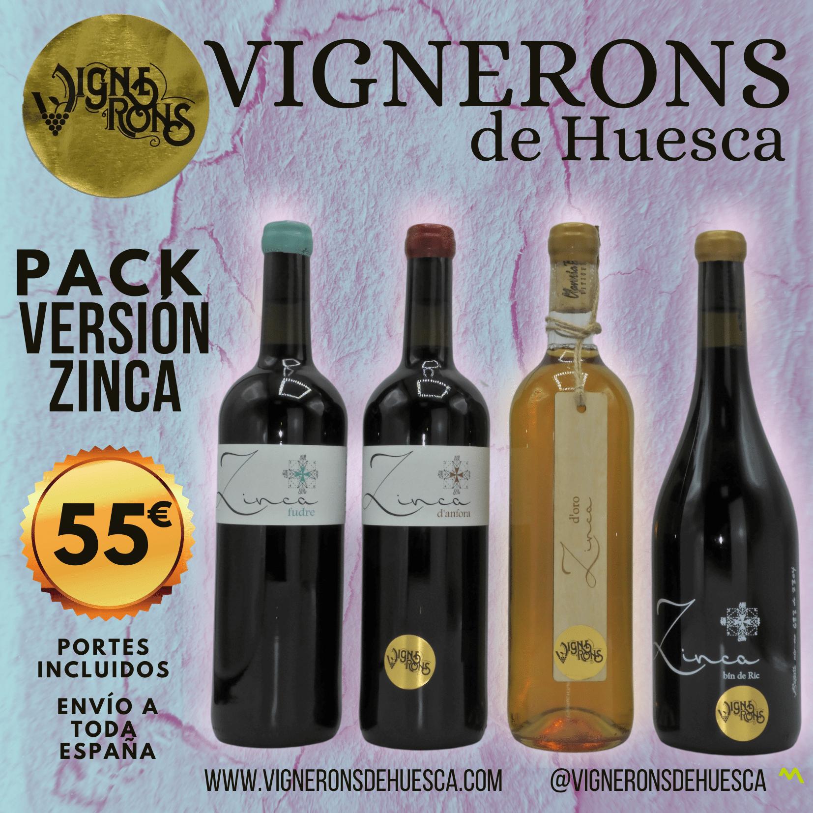 Pack Versión Zinca (4 Botellas) : D'Anfora, Foudre, Bin de Ric y D'Oro